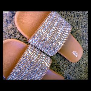 NWOT Mossimo embellished slip on sandals